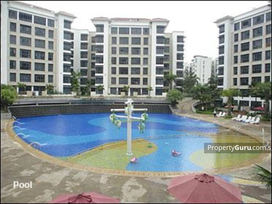 The condo. Pool can be used
