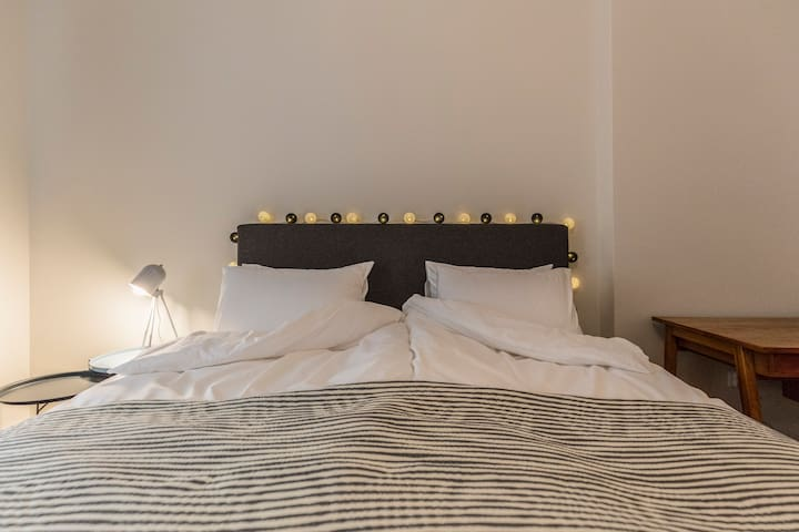 The bedroom - comfortable double bed