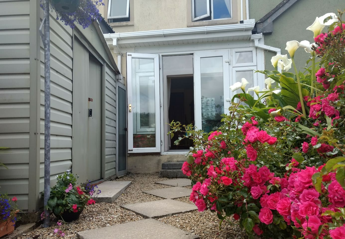 Back entrance to holiday home