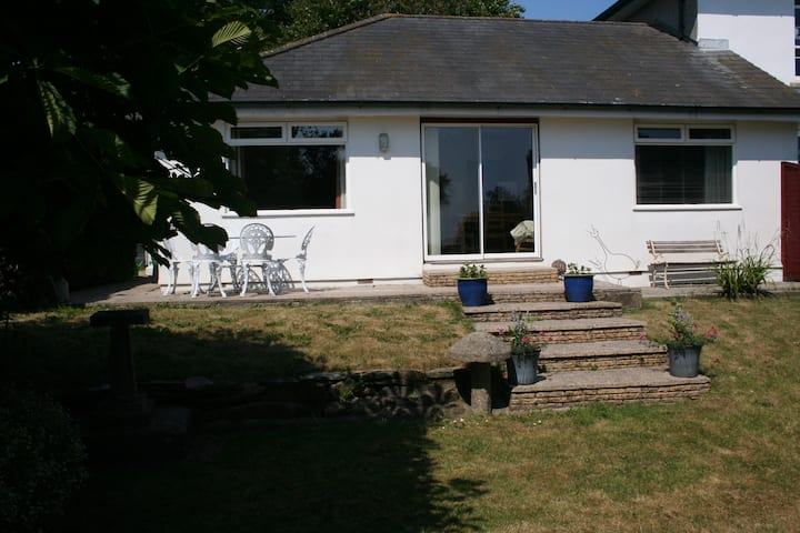 Bungalow in charming South-East Cornwall village.