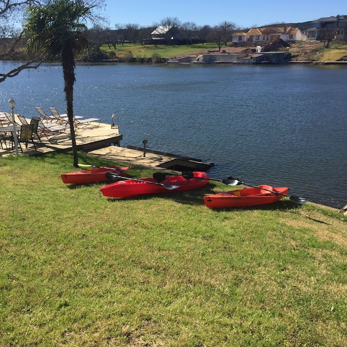Kayaks: 1 double & 2 singles. (included with your stay.)
