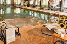 Glass inclosed Indoor pool and Jacuzzi