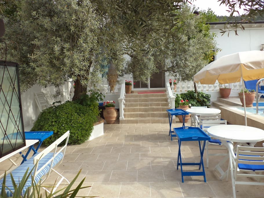 The Pool courtyard where breakfast is served.