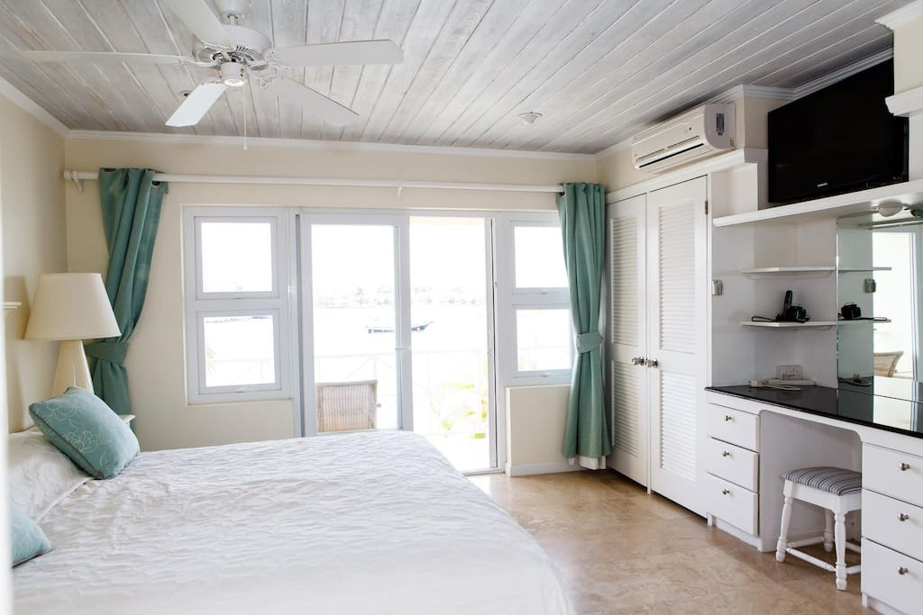 Master bedroom - Brightly lit, A/C, ceiling fan