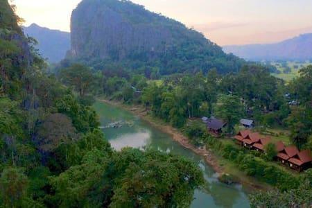 Bungalow TWIN near Kong Lor Cave - Hinboun