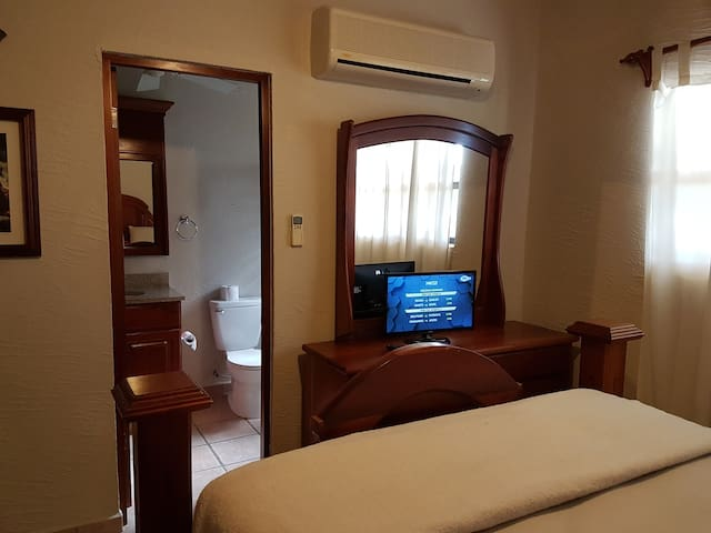 The guest room has its own A/C, LED TV, full bath and router for your all-around comfort.