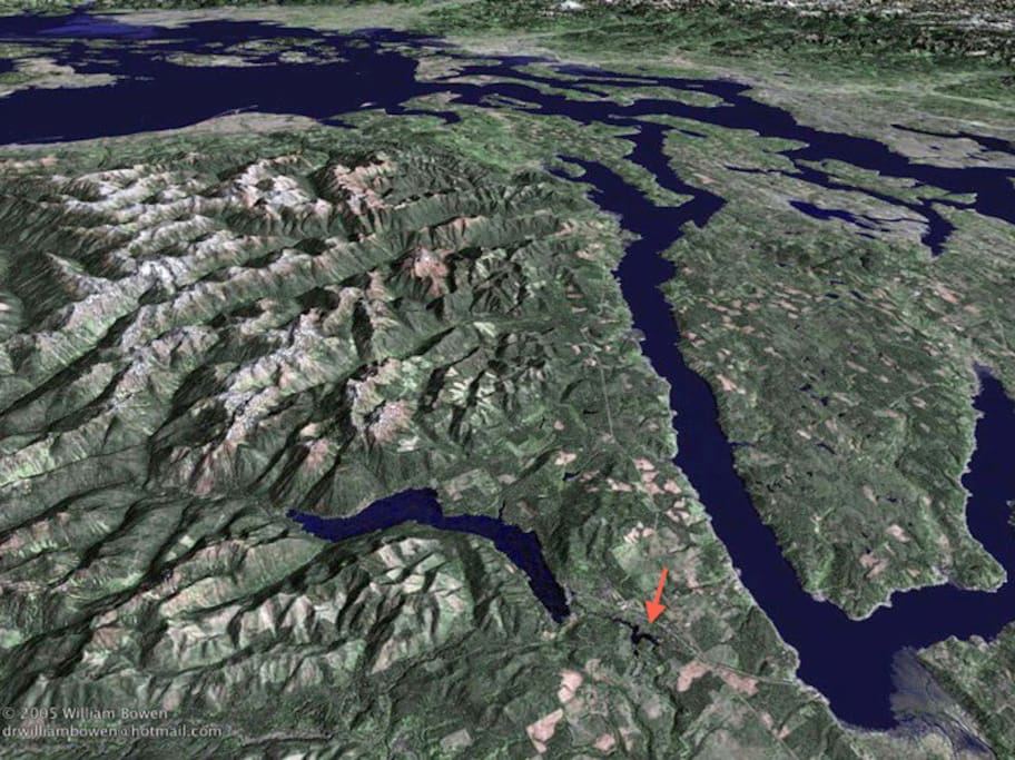 Approximate Location between Hood Canal (fjord) and Lake Cushman and Lake Kokanee foothills of the Olympic Range