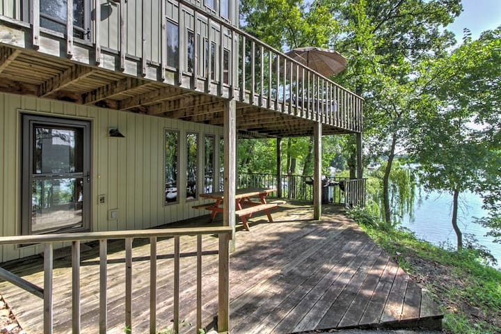 Lakefront Waupaca Home w/Pool Table, Dock & Views!