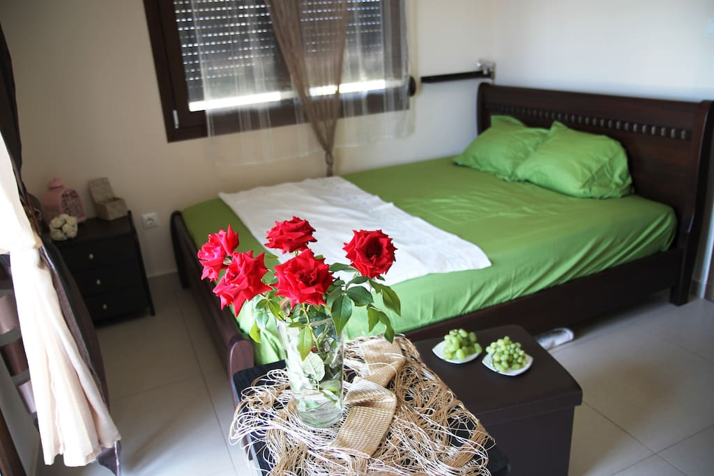 Sea View bedroom. 150 m from sandy beach