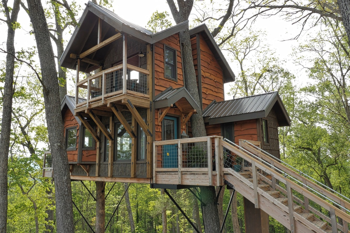 Treehouse Group Property Management Part - 15: Mountaintop Treehouse W/ Sunset Views! - Treehouses For Rent In Asheville,  North Carolina, United States