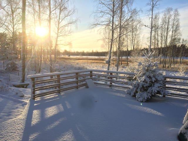 Terrace under snow.