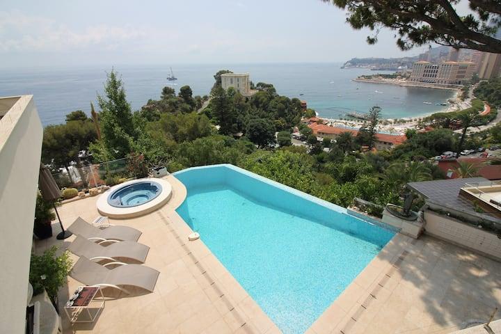Villa d'exception -Vue mer-Piscine-5min Yacht Show