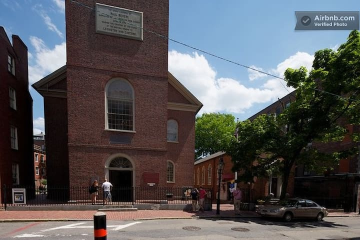 just steps away from historic old north church!!