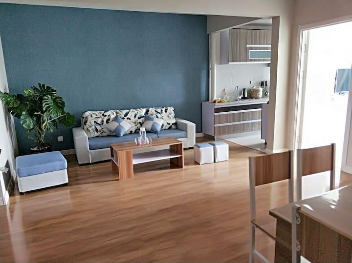兴城海滨浪漫温馨舒适高层大三室取暖海景房