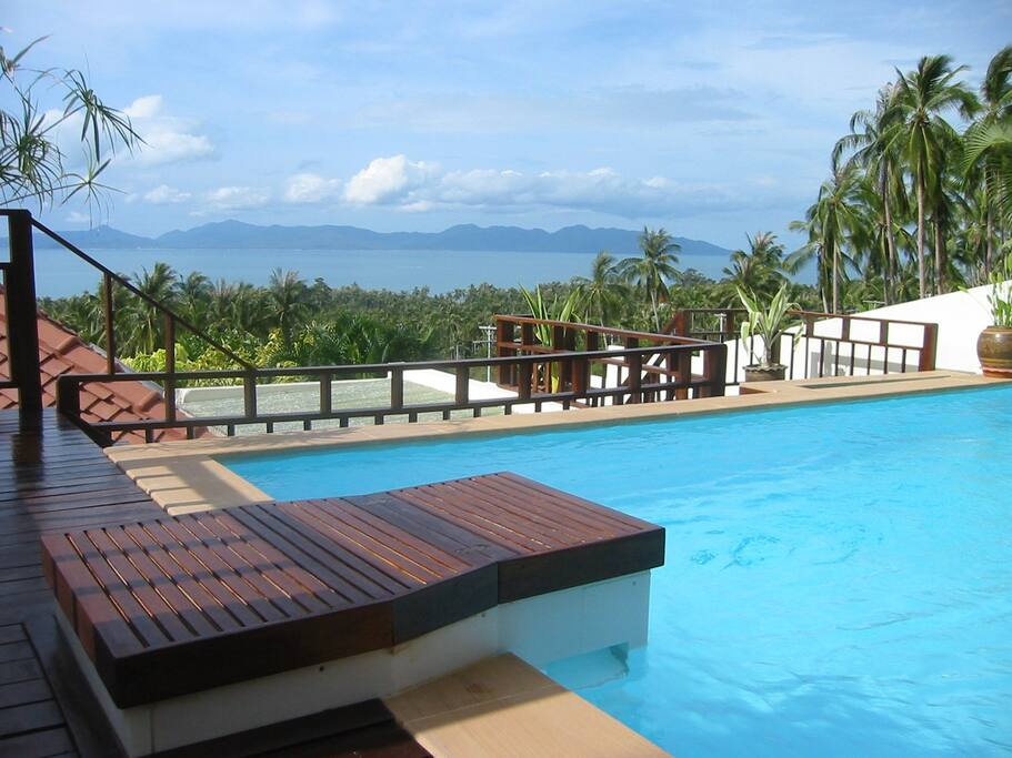 swimming pool with seaviews