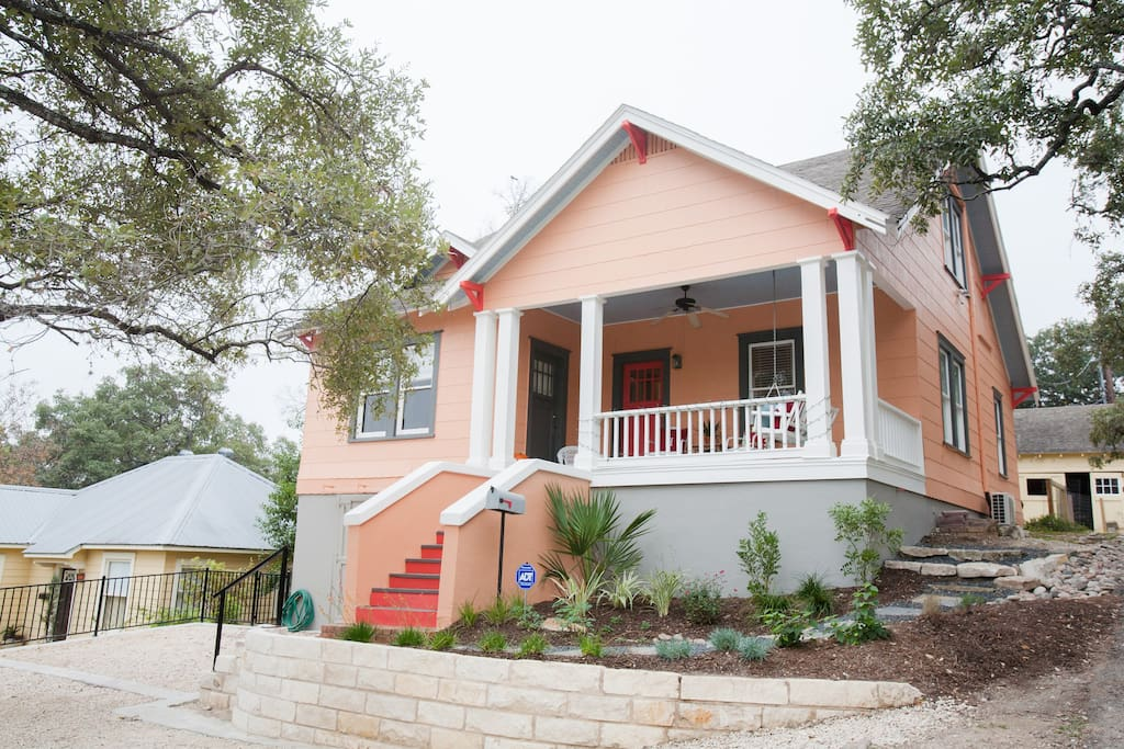 Hilltop Home in SoCo with new Front Porch and Period Swing