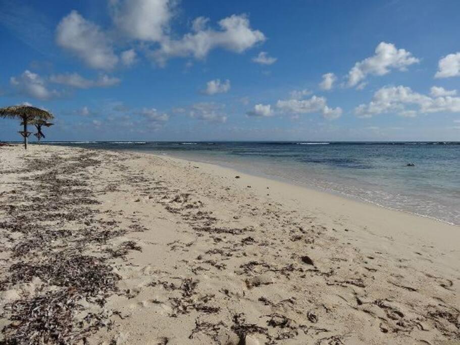 La plage privée de la résidence