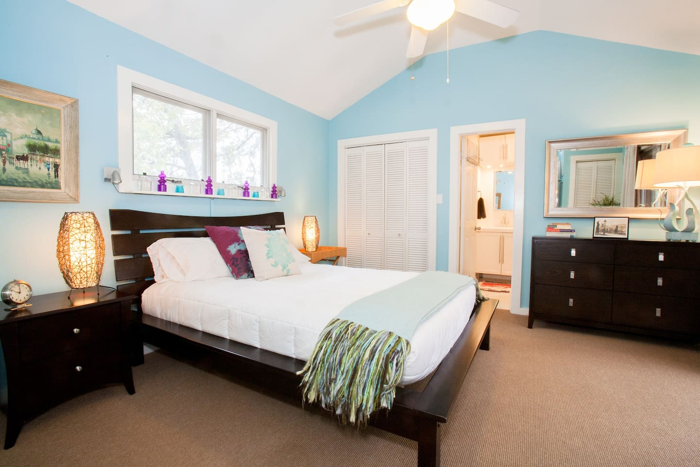 Our decadent master suite offers a cozy night's sleep after exploring all of the fun South Austin has to offer.