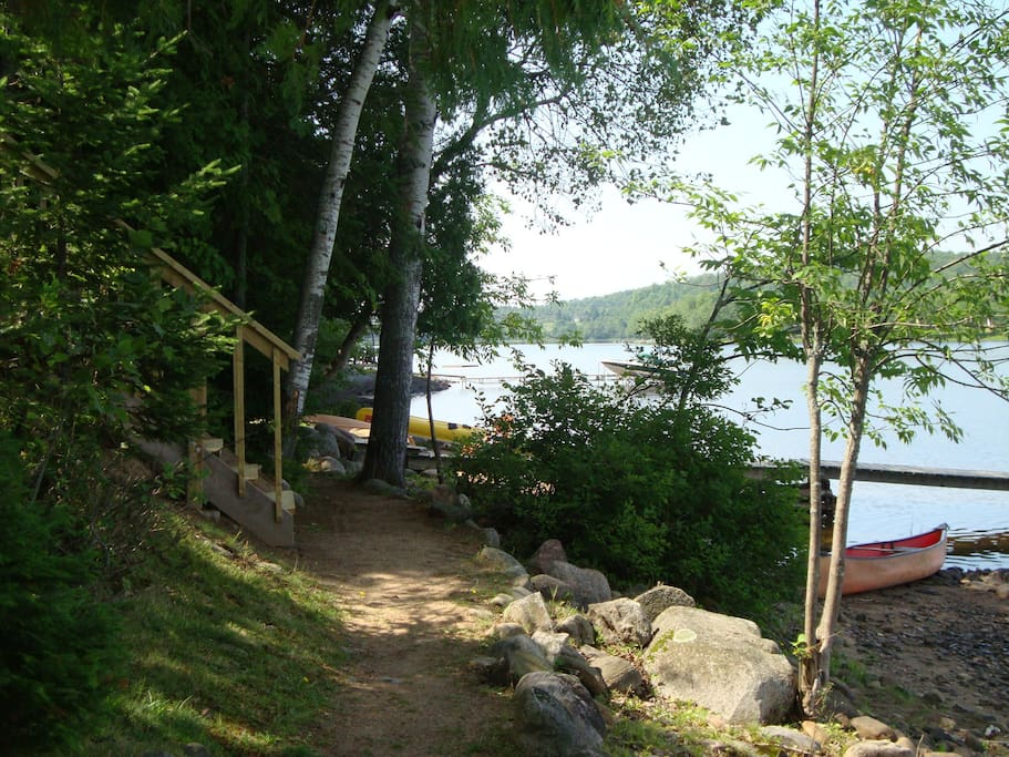 Walking Paths Sunsetview cottage muskoka