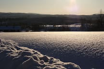 Taken from a bit north on the farm, the untuched snow cover. Be the first to make a mark!