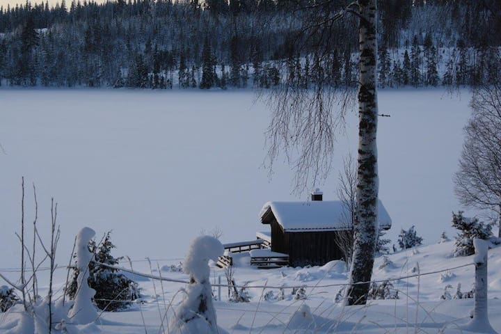 Looking down from your house seeing the sauna that is included in the price. Nothing beats a winter sauna and running out in the snow, rolling around and then back in! You have to try it!