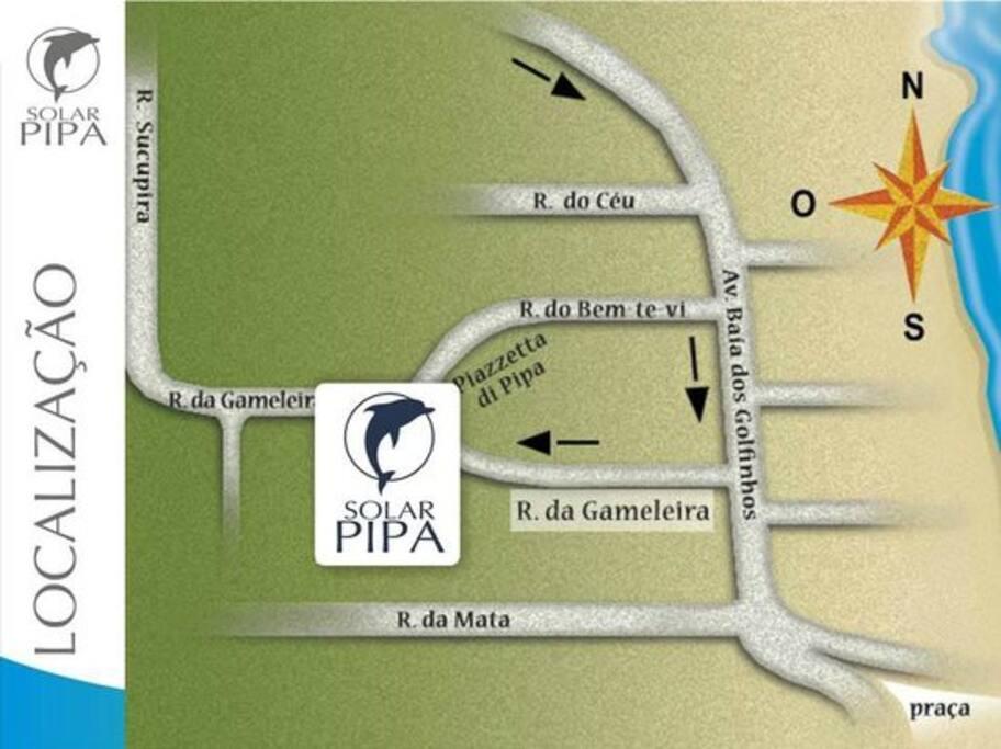 Nossa localização em Pipa