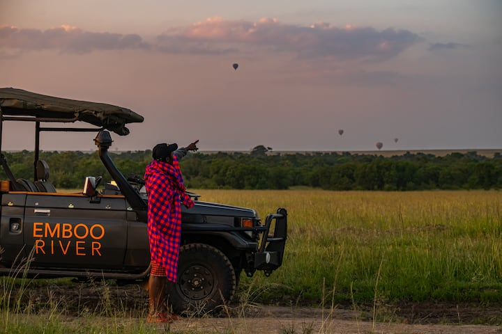 Luxury Safari tent with Game Drives