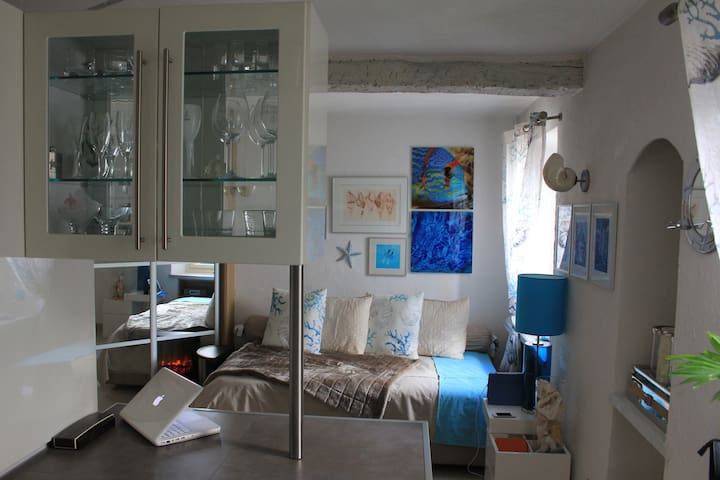 Sea Memory studio, in an old house, 1rst floor - Mouans-Sartoux - Apartamento