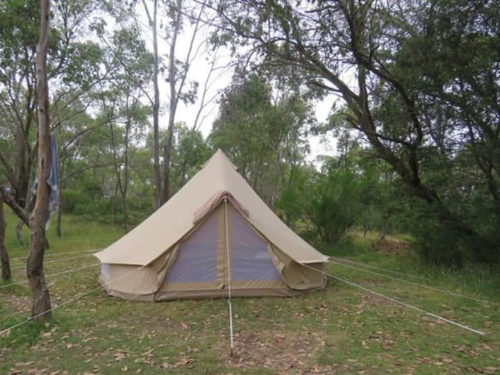 Lovely 2 person riverside glamping  bell tent