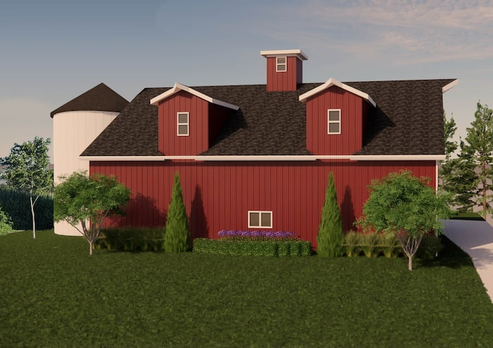 Charming Red Barn Loft With Beautiful Country View