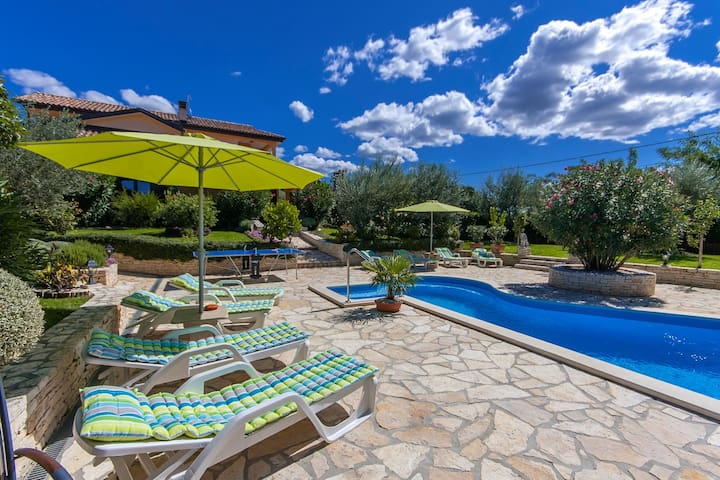 Spacious Villa Patty with Pool - Buje - Casa
