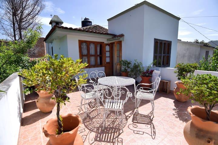 Room with big terrace in quiet zone