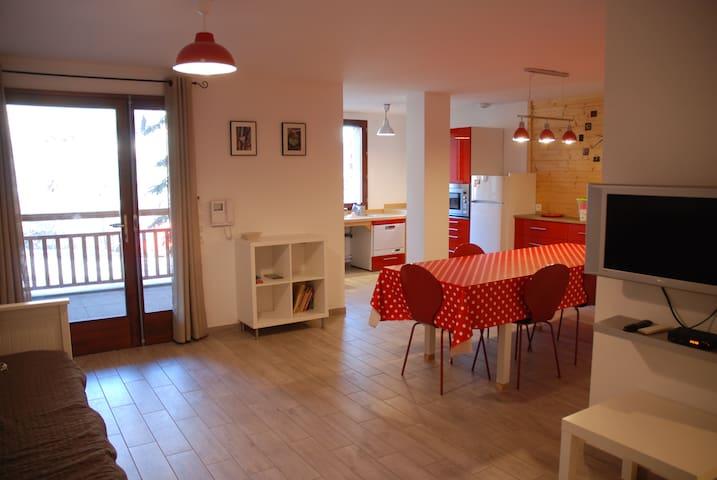 L'Aravet, T3 6/8pers, Pied pistes, Exp Nord, garage - La Salle-les-Alpes - Apartamento