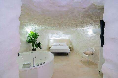Suite casa cueva con jacuzzi