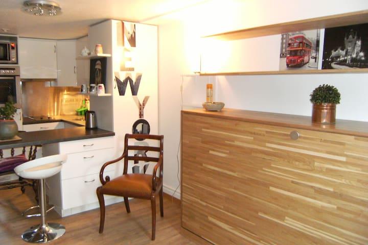 Adorable petit studio, entièrement rénové, style chalet. - Versoix - Apartamento