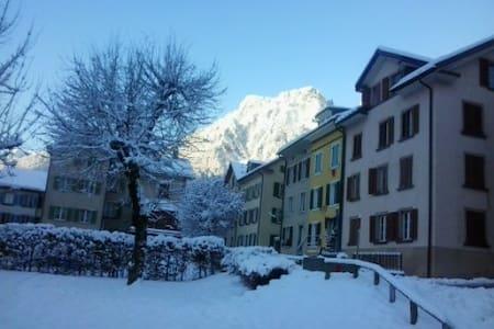 Kleine bequeme Wohnung in Schwanden - Schwanden