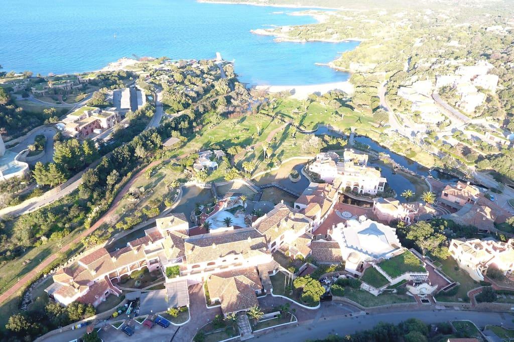 vista aerea della spiaggia