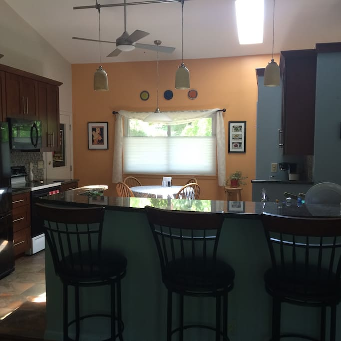 Gorgeous, recently remodeled kitchens do first floor.