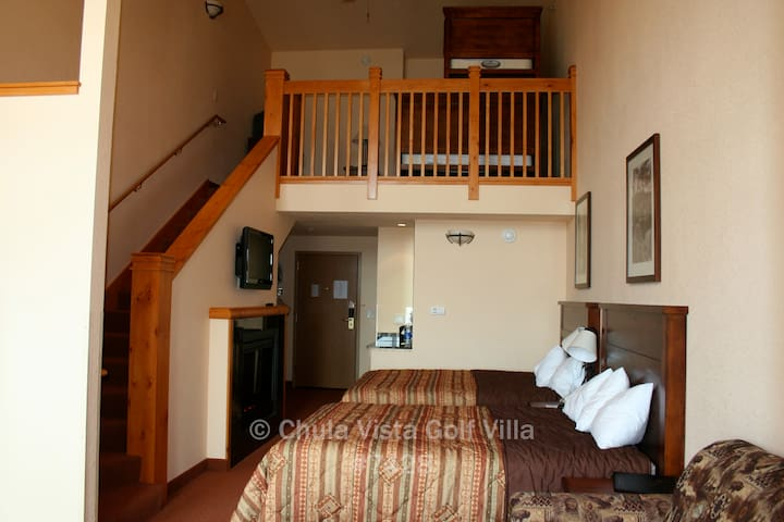 Room for the whole family. Sleeps 5 downstairs and 3 upstairs.