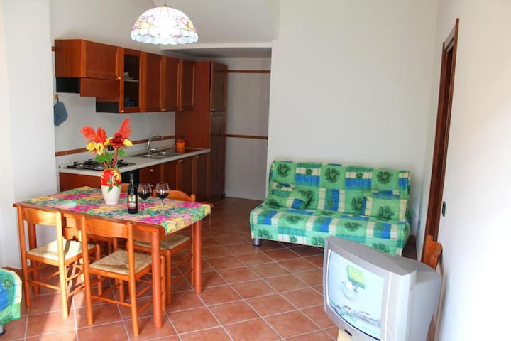 Soggiorno, Living (con parete cucina attrezzata + divano letto 2 posti) (kitchen + sofa bed for 2)