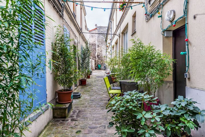 Quiet Duplex with Lovely Garden - Paris