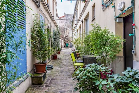 Quiet Duplex with Lovely Garden - Paris - Wohnung