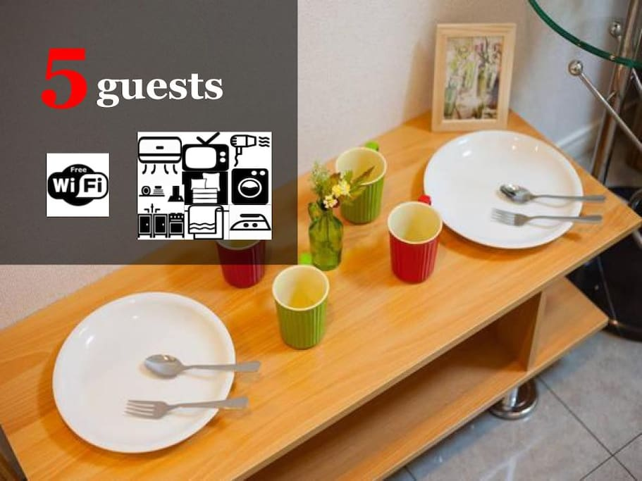Up to 5 guests available
