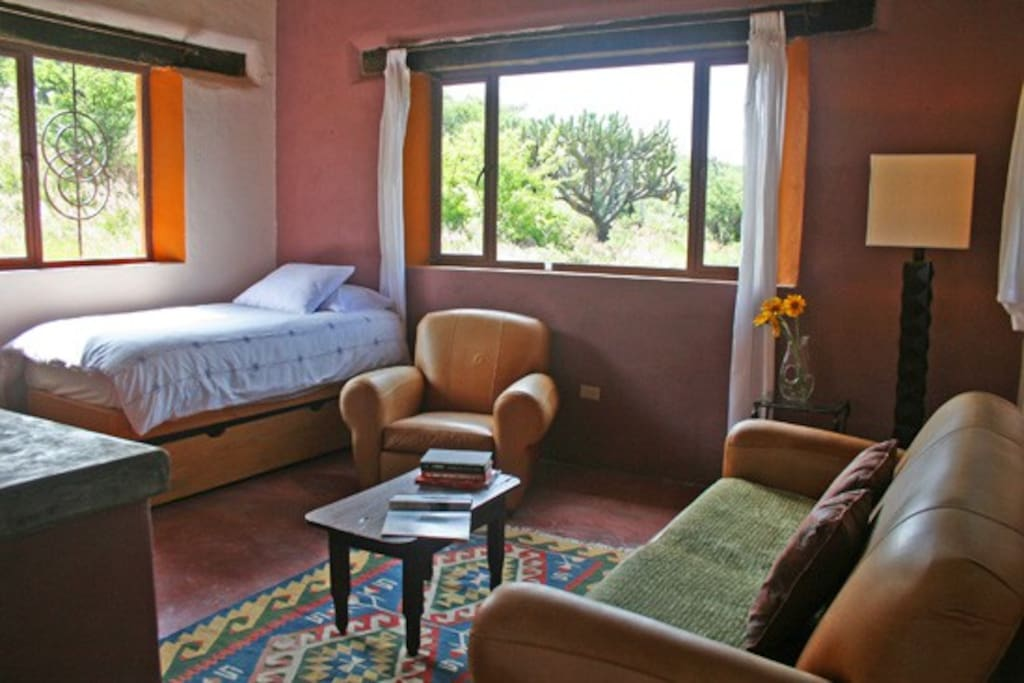 Casa Romantica can accommodate 1 or 2 extra person in the living room.