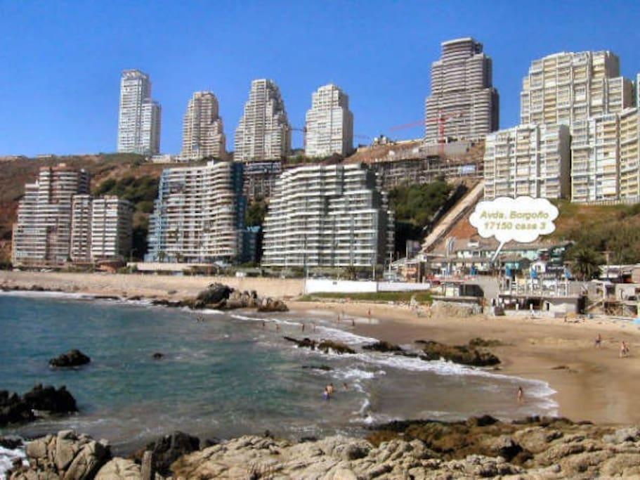 Vista de la playa Cochoa