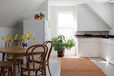Sunny apartment, wood floors, walk to town. - Camden - Lägenhet