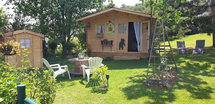 Cabane Mr&Mr Ours ❤ Chez Lila des Bois, jacuz,pisc