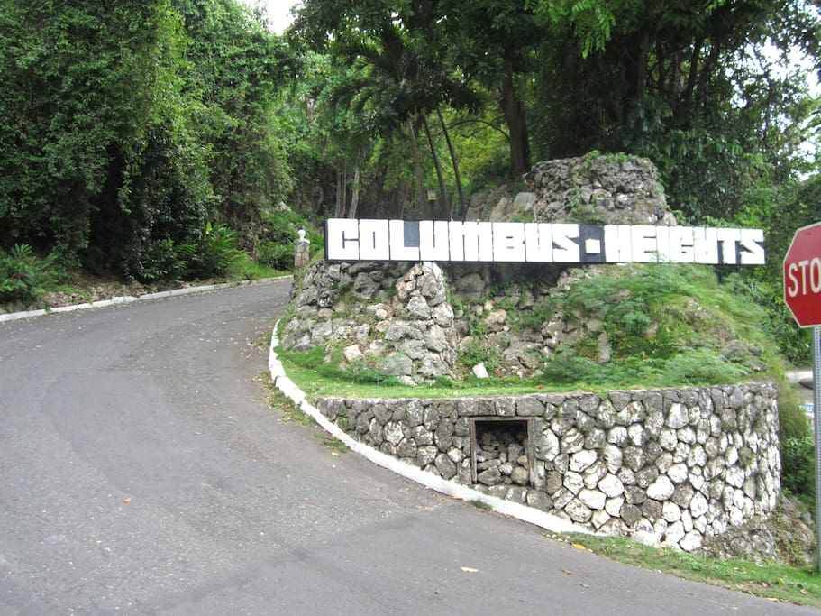 The entrance to the complex