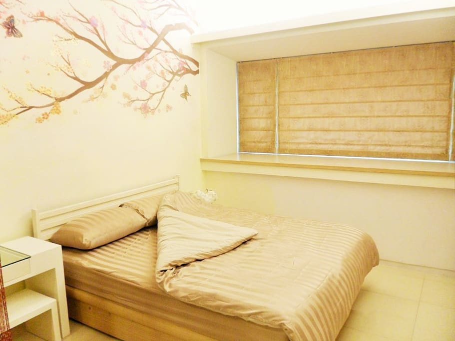溫馨極簡舒適, 標準兩人床(獨立筒床墊)-The cozy minimalist comfortable, Standard double bed(independent tube mattress)