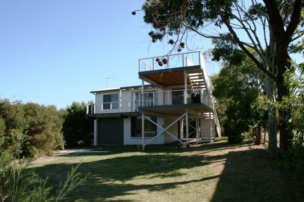 Two fabulous decks with water views and a front garden big enough for kicking the footy and cricket